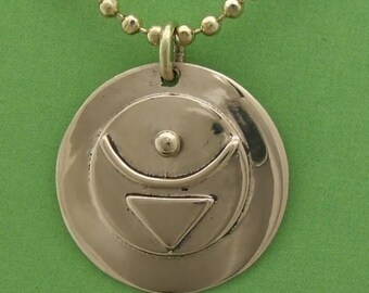 "Bronze  ""BELIEVE"" pendant"
