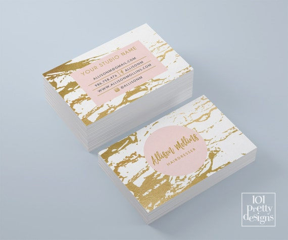 Marble business card white and gold business card gold foil colourmoves