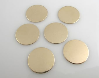 5/8nch 6Pack Gold Filled Discs 22 Gauge 16MM Hand Stamping Supplies Blank Finished Smooth Engraving Tag Jewelry Making