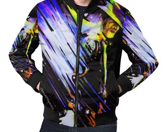 MJ Men Jacket, Cut And Sew Jackets, MJ Art On Jackets, MJ Fans Jackets, Jackets For Him, Michael Jackson Art, Artsy Jackets, Premium