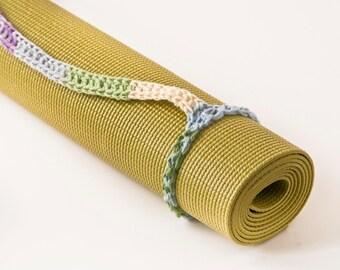 Yoga Mat Strap, Yoga Bag -  Watercolor, Slim Tote Handle - US Shipping Included,Original HH Design