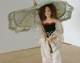 miniature parasol umbrella 1:12  Spring by Mable Malley