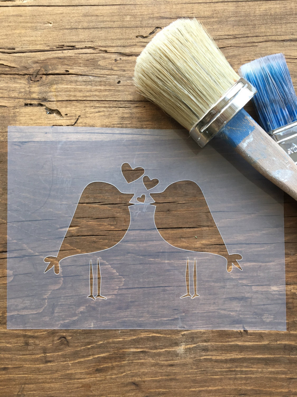 Love Birds Stencil, Bird Stencil, Nursery Stencil, Love Stencil ...