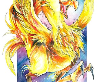 A3 Print ~ Yellow Chocobo!