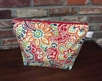 Winter Games Oversized Paisley Knitting Project Bag