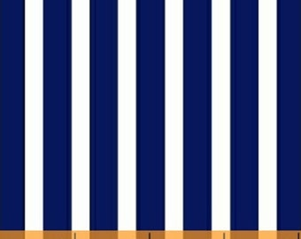 Windham Basic Brights - Large Stripe in Navy Blue - American Bright Basics Cotton Quilt Fabric Stripes - Windham Fabrics - 29396-2 (W3357)