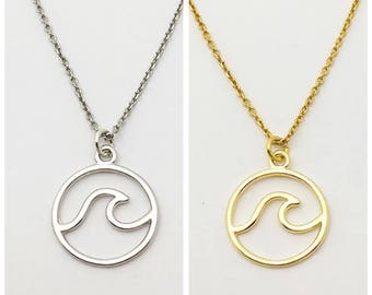 Vermeil Silver and Gold wave necklace