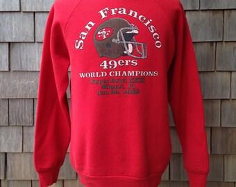 80s vintage San Francisco 49ers sweatshirt - World Champinos 1989 Super Bowl XXIII - Medium - Forty Niners