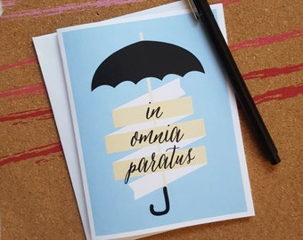 Gilmore Girls Inspired Greeting Cards - Blank Inside - In Omnia Paratus