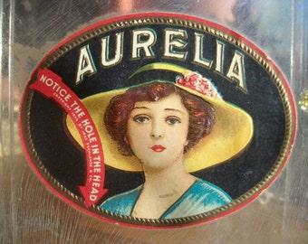 Vintage Antique Aurelia Plastic Cigar Box 1935