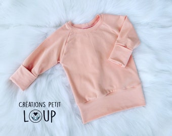 Scalable-grow with me-bamboo Terry sweater - pink