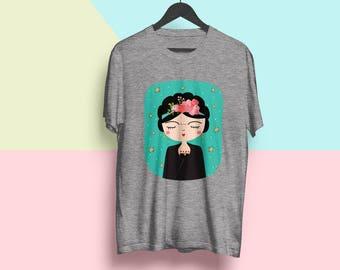 Frida Kahlo Tee Shirt, Frida Kahlo Clothing, Dia De Los Muertos Shirt, Frida Kahlo Shirt Women, Mexican Shirt For Girls // Best Seller