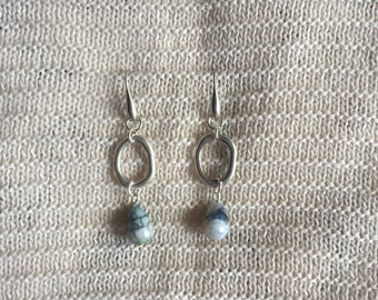Unique Grey Earrings