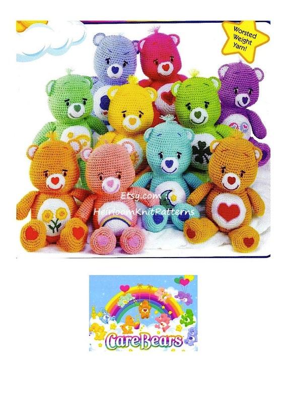 Care Bears Crochet Pattern 10 Carebears Toy Crochet Pattern