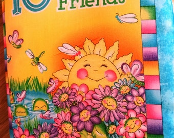 Cloth Book – 10 Garden Friends  -  Item BK150125