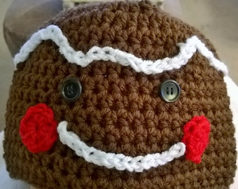Christmas Baby Gingerbread hat