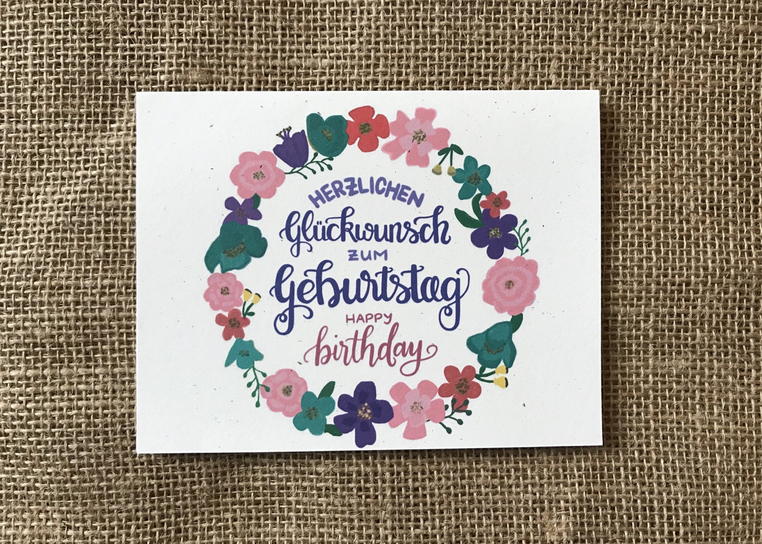 Happy Birthday In German Handlettered And Handdrawn Greeting