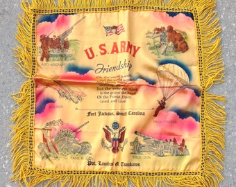 Vintage WWII Sweetheart Pillow sham Excellent