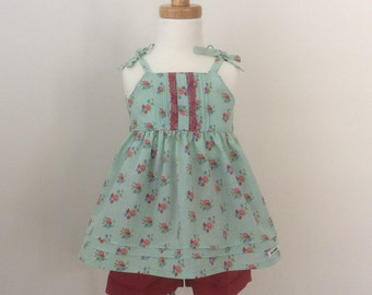 Girls Top and Shorts Set - Size 2, READY TO SHIP