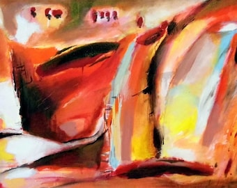 """Abstract painting """"Beautiful day"""""""