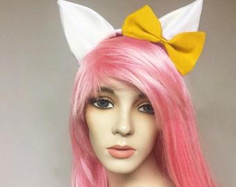 Mimi Kitty Cat Cosplay Ears Yellow Bow