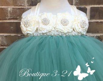 Sage Flower Girl Dress, Sage Tutu Dress, Sage Tulle Dress, Sage Dress, Sage Wedding, Sage, Flower Girl Dress, Tutu Dress, Tulle Dress, Dress