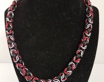 Tri color Byzantine necklace