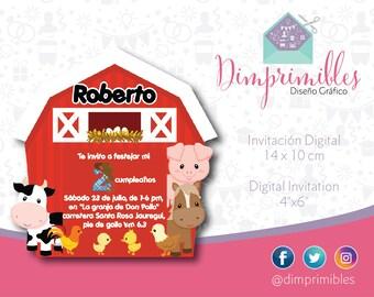 Farm, Farm Invitation, Farm Printable, Farm Party, Farm Birthday, Farm Animals