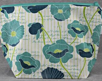 Pleasing Poppies MEDIUM MEGA-MOUTH Project Bag