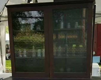 Antique Glass Display Cabinet SOLD