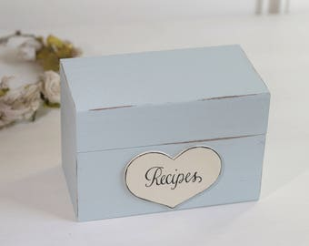 Personalized Recipe Box Bridal Showers and Weddings, Gifts Rustic Shabby Chic