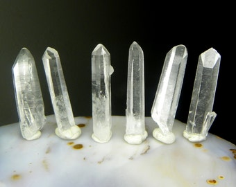 ONE Tibetan Quartz crystal - 1.25 to 1.5 inch long average - very clear water - raw natural quartz crystal point wire wrap coyoterainbow A91