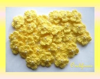 Crochet Flowers 20 pcs. Mini