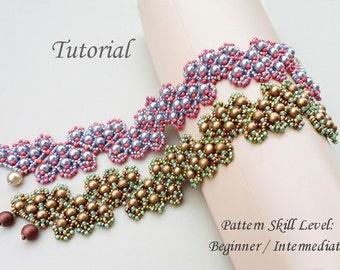 ZIGZAG beaded bracelet beading tutorial beadweaving pattern seed bead beadwork jewelry beadweaving tutorials beading pattern instructions