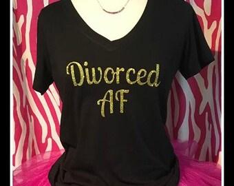 Sparkling Divorced AF Tshirt  Divorced AF tank sparkling divorced shirt ladies divorcee shirt divorce party girls night divorce tshirt