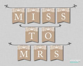 Bridal Shower Banner Printable