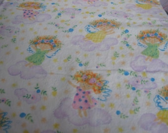 Cotton Fabric - Cute little girls with wings