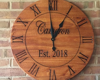 Personalized Clock Etsy