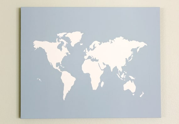 World diy customize map 16x20 canvas acrylic painting wall gumiabroncs Gallery