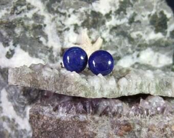 10 mm reichen tiefblauen Lapislazuli Titan Ohr Beiträge Kupplungen Ohrstecker Ohrringe Ohrringe Mystery Hypo Allergen