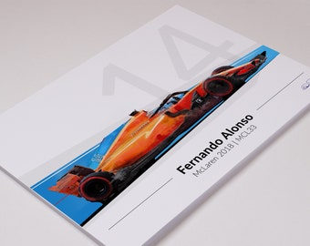 Fernando Alonso F1 Art 2018 McLaren