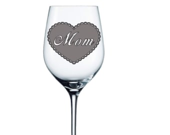 Mothers day gift - Gifts for mom - Mother's day gifts - gift ideas - Wine Glass -  - Etched - Gift idea Personalized Gift - Gift for her -