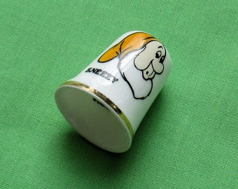 Vintage Sneezy Bone China Thimble Made In England