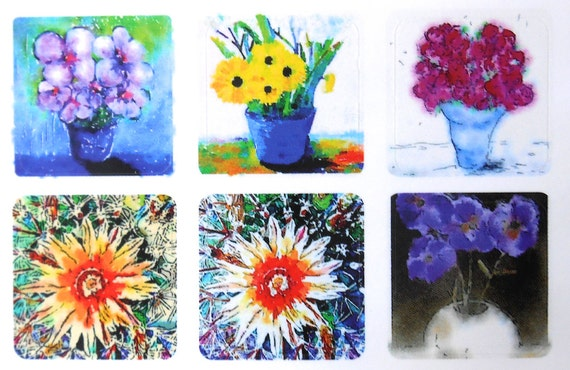 Mini Flowers 1 - Fine Art Stickers