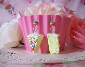 Earrings Birthday Cake Slices