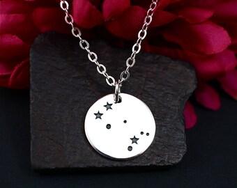 Gemini Constellation Necklace, Gemini Necklace, Sterling Silver, Gemini Zodiac Necklace, Gemini Jewelry for Women, Gemini Gift, Jewelry