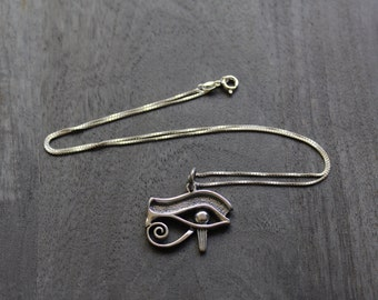 Eye of Horus (Medium) Egyptian Necklace Sterling Silver