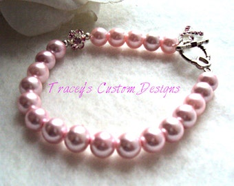 Beautiful Breast Cancer Awareness & Hope Bracelet Keepsake - Custom made for you.