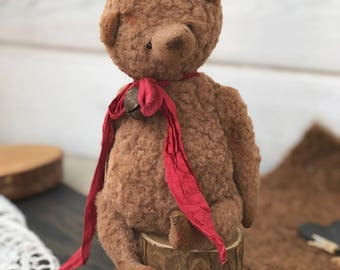 Teddy bears. Vintage teddy. Toys bears. Handmade teddy.