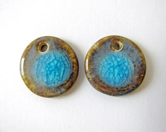 Forest & Lake Earring Charms Stoneware Clay